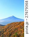 三つ峠 紅葉と富士山 27679368