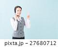 コールセンター 女性(青背景) 27680712