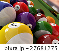 Group of billiard balls with numbers. (Pool). 27681275