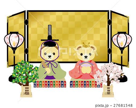 テディベアの雛人形 27681548