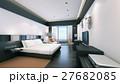 ベッド 寝室 まくらのイラスト 27682085