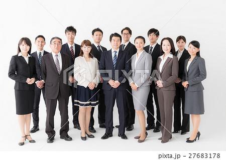 ビジネスグループ 白バックイメージ 27683178