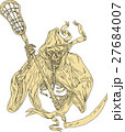 Grim Reaper Lacrosse Stick Drawing 27684007