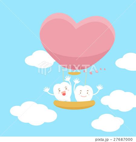 teeth with hot air balloon 27687000