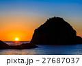 妙見浦の夕日 天草 27687037