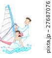 ウェディング 新婦 新郎のイラスト 27687076