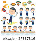 Blue clothing glass dad cooking 27687316
