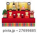 テディベアの雛人形 五人飾り 27699885