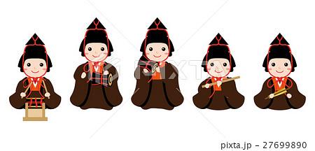 雛人形 五人囃子のイラスト素材 27699890 Pixta