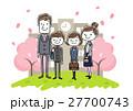 入学式イメージ:両親と男の子と女の子 27700743