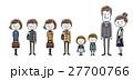 小学生 中学生 家族のイラスト 27700766