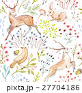 Nice vector watercolor forest pattern 27704186