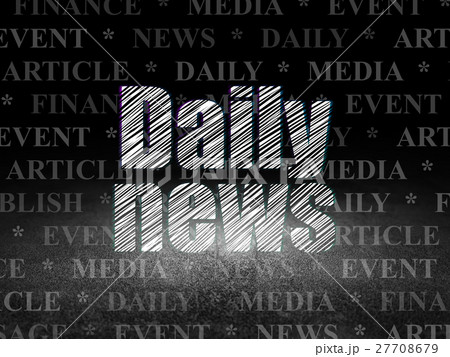News concept: Daily News in grunge dark room 27708679