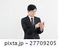 ビジネスマン サラリーマン スマートフォンの写真 27709205