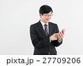 ビジネスマン サラリーマン スマートフォンの写真 27709206