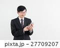 ビジネスマン サラリーマン スマートフォンの写真 27709207