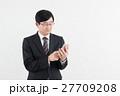 ビジネスマン サラリーマン スマートフォンの写真 27709208
