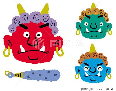 節分 鬼の顔のイラスト素材 27713018 Pixta
