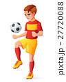 サッカー ベクトル 少年のイラスト 27720088