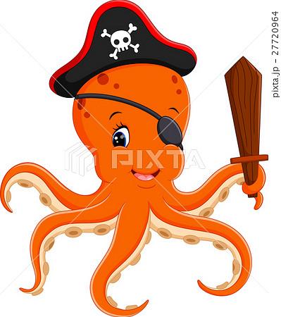 illustration of Cartoon pirate octopusのイラスト素材 [27720964] - PIXTA