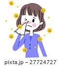 花粉症 アレルギー 女性のイラスト 27724727