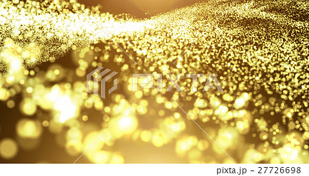 Gold particle wave with light flare 27726698