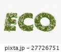 Eco word typed by flowers and grass 27726751