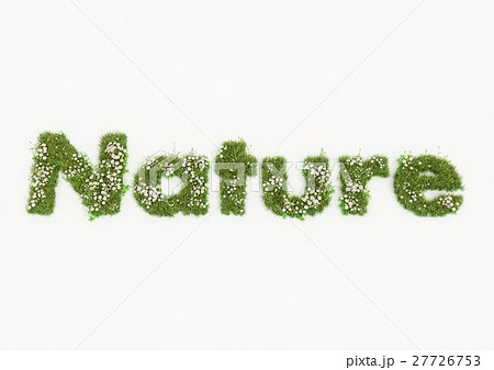 Nature word typed by flowers and grass 27726753