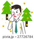 花粉症 アレルギー 体調不良のイラスト 27726784