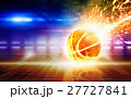 Abstract sports background - burning basketball 27727841