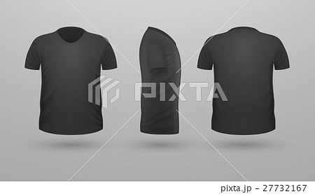 t shirt teplate set front side back view vectorのイラスト素材