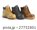 Different winter boots on a white background.  27732801