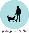 woman and dog 27746942