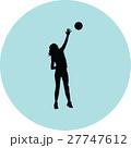 バレー バレーボール ベクトルのイラスト 27747612