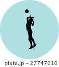 バレー バレーボール ベクトルのイラスト 27747616
