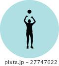 バレー バレーボール ベクトルのイラスト 27747622