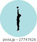バレー バレーボール ベクトルのイラスト 27747626