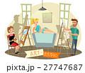 Art Studio Creative Process  Cartoon Illustration  27747687