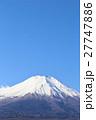 富士山山頂と青空 【コピースペース】 27747886