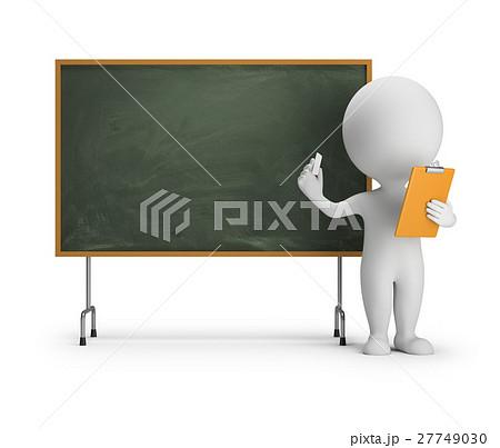 3d small people - blackboard 27749030