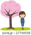 春 桜 女性のイラスト 27749508