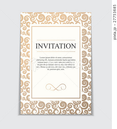 vintage wedding invitation with bow and ribbonのイラスト素材