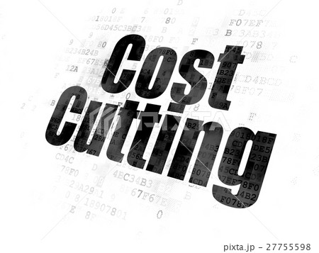Finance concept: Cost Cutting on Digital 27755598