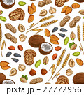 Nuts, grains, seeds seamless pattern 27772956
