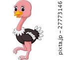 Funny ostrich cartoon 27773146