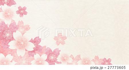 桜 春 和紙 背景  27773605