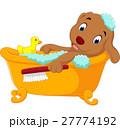 動物 お風呂 浴室のイラスト 27774192