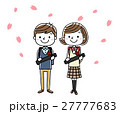 卒業式イメージ:男の子と女の子 27777683