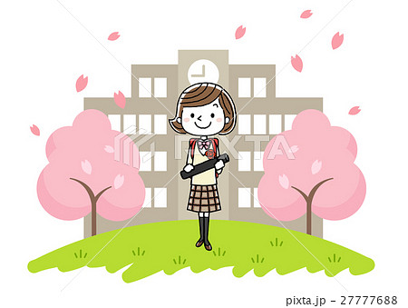 卒業式イメージ:女の子 27777688