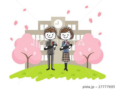 卒業式イメージ:男の子と女の子 27777695